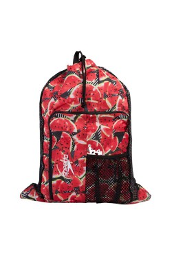 СУМКА SPEEDO DELUXE VENT MESH BAG XU BLACK/RED (8-11234C365)
