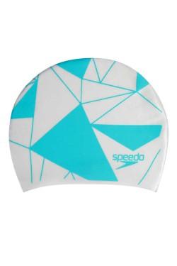 ШАПОЧКА для плав. SPEEDO PRT LONG HAIR CAP AU WHITE/BLUE (8-113064284)