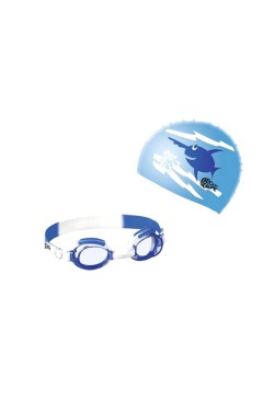 Набор д/плав BECO Sealife® I (шапочка+очки) 96059 синий (000-0058)