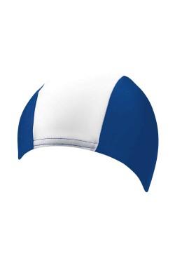 Шапочка д/плав BECO 7728 текстиль (полиамид/эластан) сине/белый (000-0324)