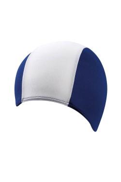 Шапочка д/плав BECO 7723 текстиль (полиэстер, удлиненная) темно-сине/белый (000-0429)