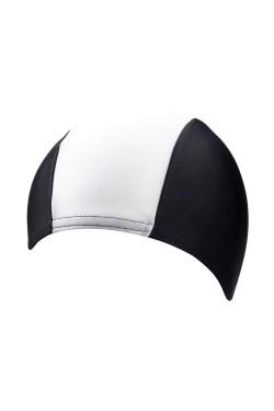 Шапочка д/плав BECO 7728 текстиль (полиамид/эластан) черно/белый (000-0430)