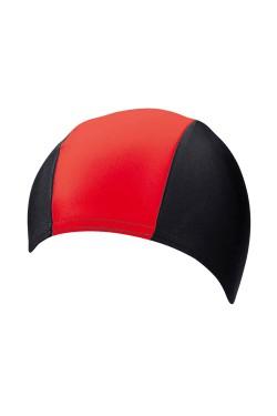 Шапочка д/плав BECO 7728 текстиль (полиамид/эластан) черно/красный (000-0431)