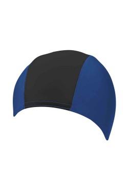 Шапочка д/плав BECO 7728 текстиль (полиамид/эластан) сине/черный (000-0433)