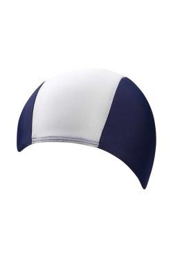 Шапочка д/плав BECO 7728 текстиль (полиамид/эластан) темно-сине/белый (000-0435)