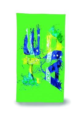Рушник HEAD з мікрофібри 150*75 (кольори Бразилії)