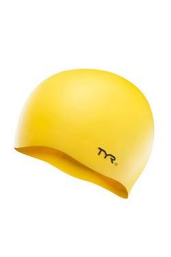 Шапочка для плавания TYR Wrinkle-Free Silicone Swim Cap, Yellow (LCS-720)