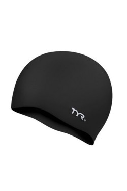 Шапочка для плавания TYR Wrinkle Free Junior Silicone Swim Cap, Black (LCSJR-001)