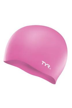 Шапочка для плавания TYR Wrinkle Free Junior Silicone Swim Cap, Pink (LCSJR-670)