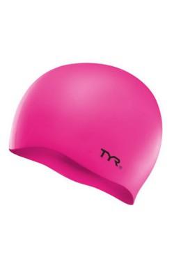 Шапочка для плавания TYR Wrinkle Free Junior Silicone Swim Cap, Fl.Pink (LCSJR-693)