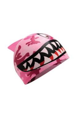 Шапочка для плавания TYR Shark Silicone Youth Swim Cap, Pink (LCSJSHRK-670)