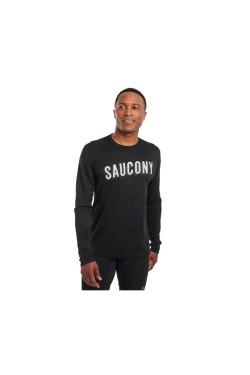 футболка (дл/рук) Saucony STOPWATCH LONG SLEEVE (800197-BKSC)