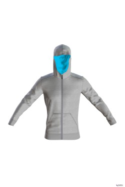 кофта arena M ESSENTIAL HOODED F/Z JACKET (001048-520)