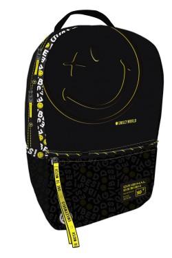 """Рюкзак YES T-124  """"Smiley World.Black&Yellow"""", черный"""