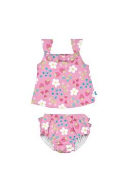 Комплект из майки и трусиков для плавания I Play -Light Pink Daisy Fruit-24міс